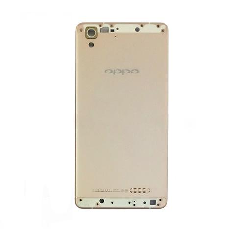 Thay nắp kính lưng Oppo R7 –Lưng màu gold (luôn khay sim + bộ nút)