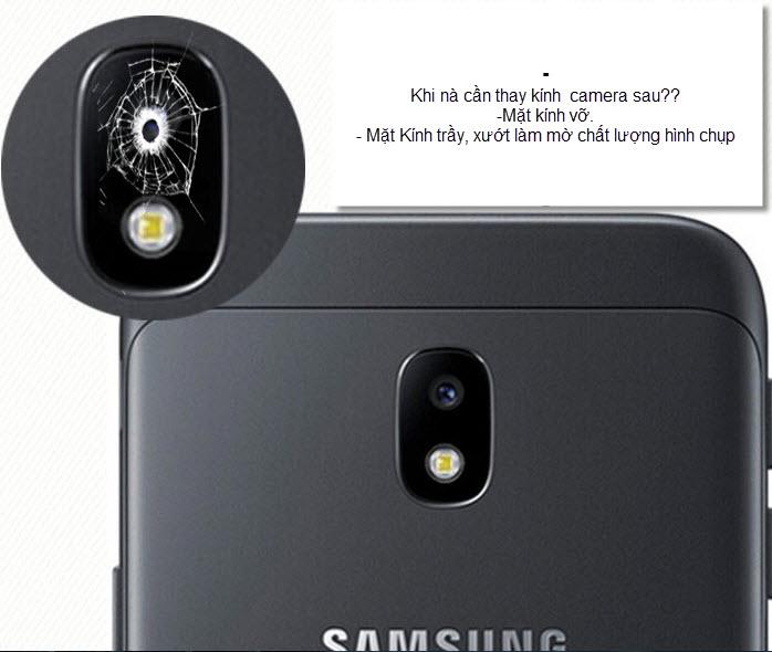 Thay kính Camera sau Samsung A8 plus