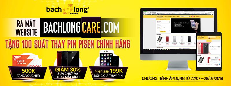 Ra mắt Website bachlongcare.com – Tặng 100 suất thay pin iPhone (Pisen chính hãng)