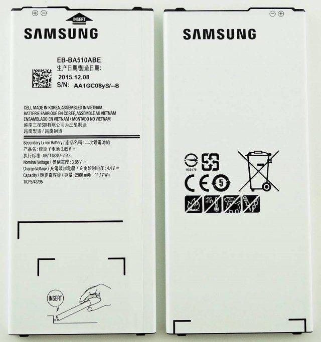 Thay pin Galaxy A5 2016/ A510