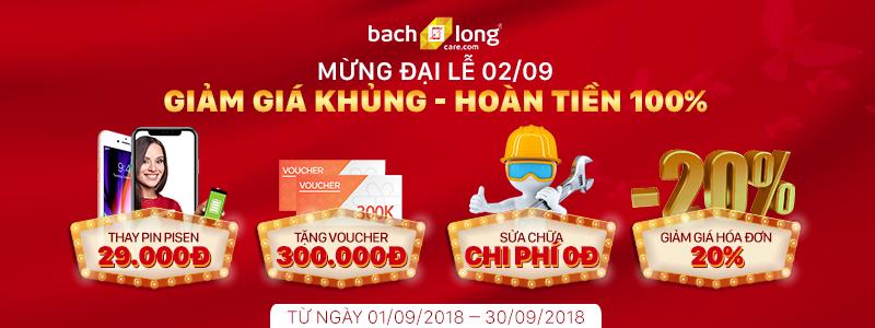 Bạch Long Care: Mừng Đại lễ 02/09 áp dụng giảm giá khủng, hoàn tiền 100%