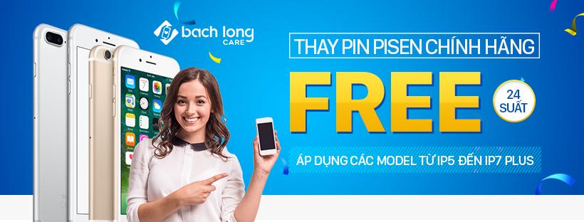 Miễn phí thay pin iPhone Pisen, giảm đến 50% các dịch vụ tại Bạch Long Care