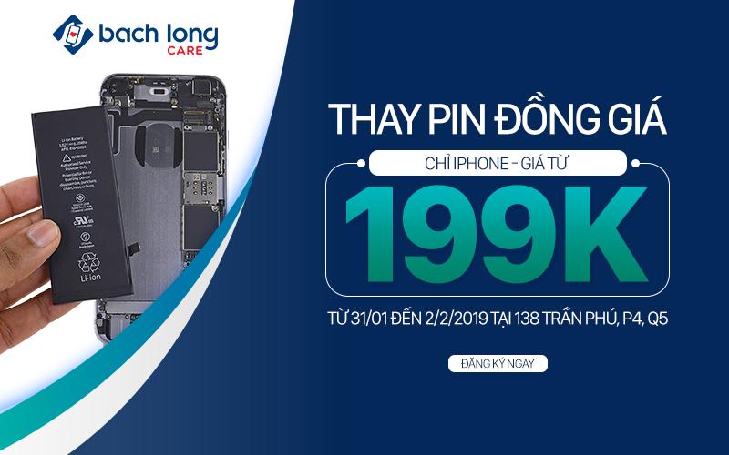 Cơ hội cuối cùng: Thay pin Pisen chính hãng cho iPhone đồng giá 199.000 đồng