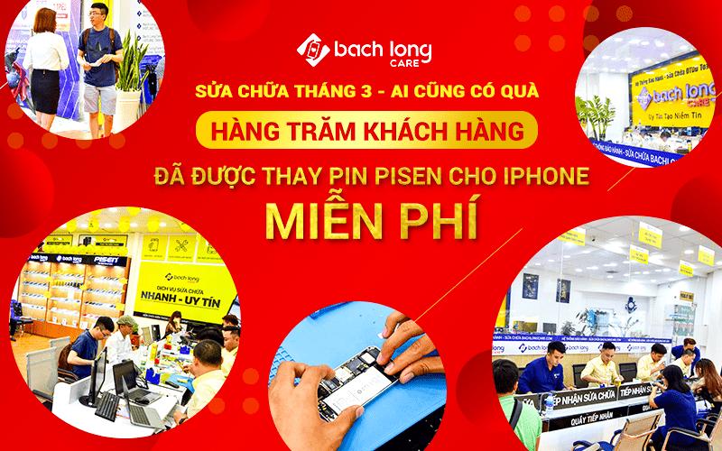 [Ảnh] Hàng trăm khách hàng đã được thay pin Pisen cho iPhone miễn phí