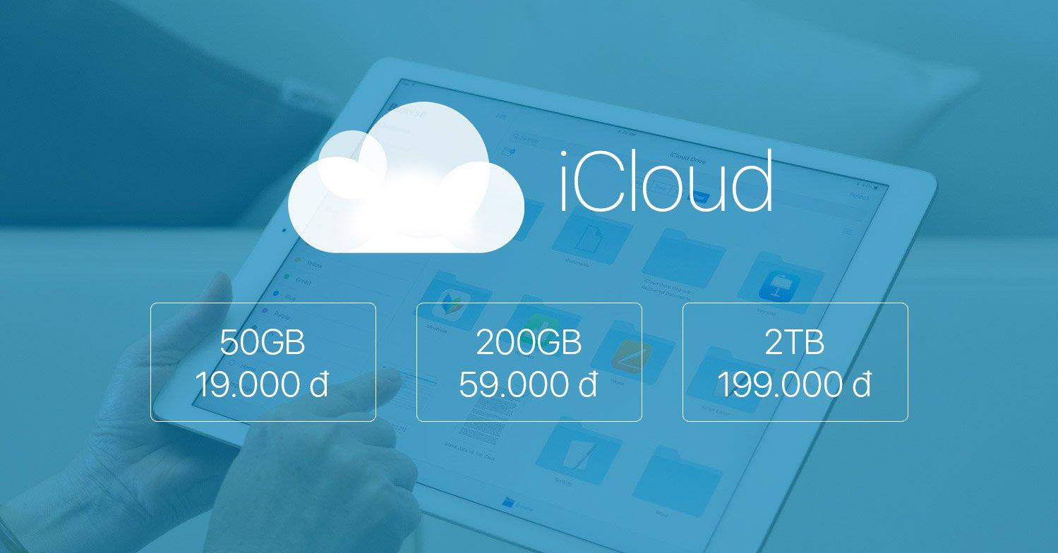 Nhận 1 tháng miễn phí nâng cấp dung lượng iCloud