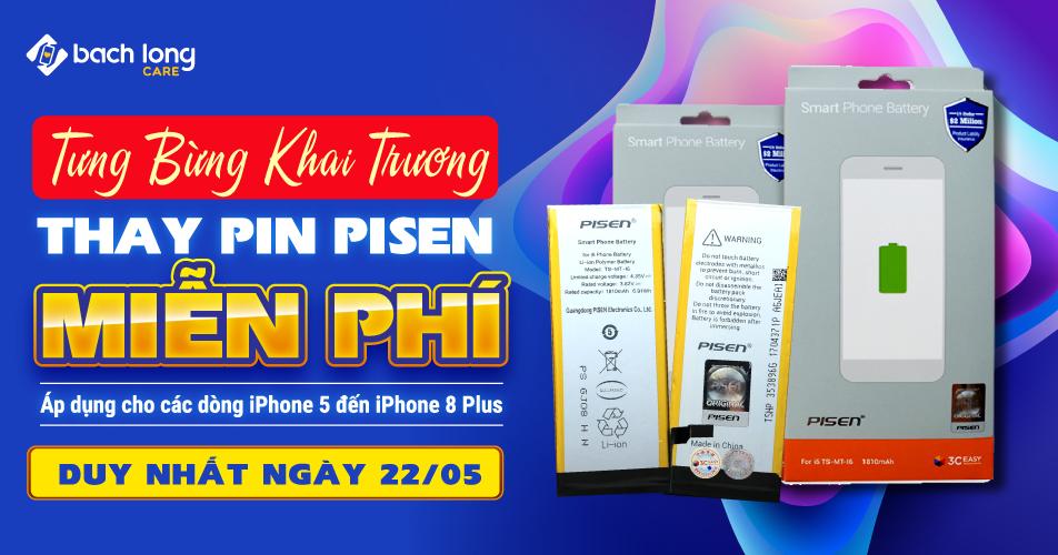 Mừng khai trương Bạch Long Care VIP 4: Ưu đãi thay pin PISEN miễn phí
