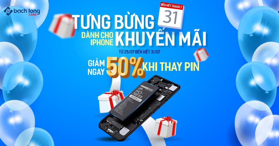Tưng bừng khuyến mãi dành cho iPhone – Giảm ngay 50% khi thay pin