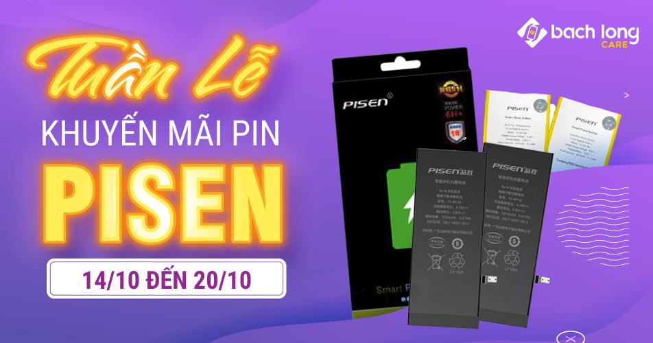 Tuần lễ khuyến mãi Pin PISEN – Giảm giá lên đến 30%