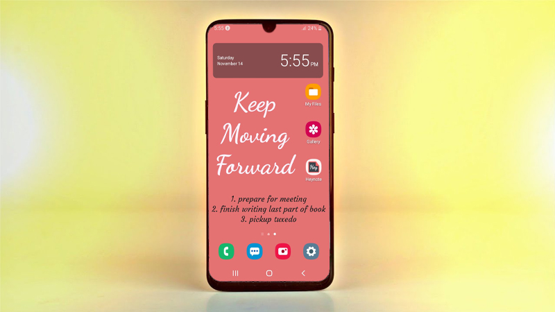 Tạo ghi chú cực đẹp ngay trên màn hình khóa smartphone Android