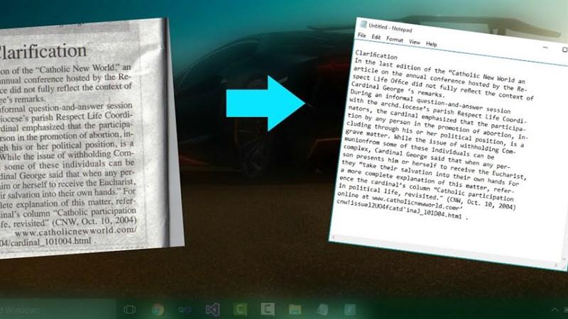 Mẹo nhỏ giúp bạn copy được đoạn văn bản trong ảnh