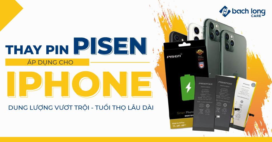 Pin PISEN cho iPhone – Dung lượng vượt trội – Tuổi thọ dài lâu